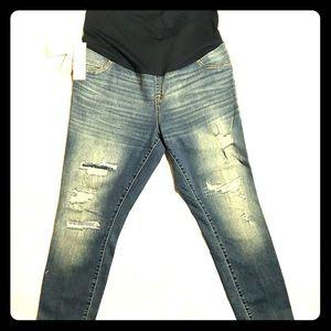 Liz Lange maternity ankle skinny jeans